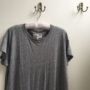 THE GREAT Distressed T-Shirt Dress